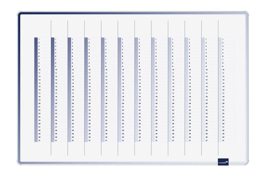 Legamaster 7-489000 - Pizarra de planificación anual, color 60 x 90 cm, color anual, azul ac98b9