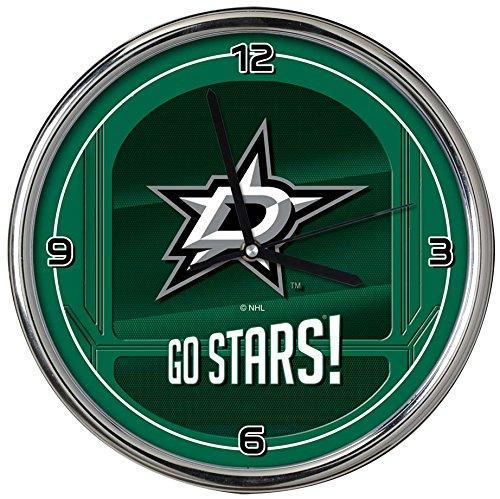 The Memory Company NHL Dallas Stars Go Team! Chrome Clock, One Size, Multicolor ()