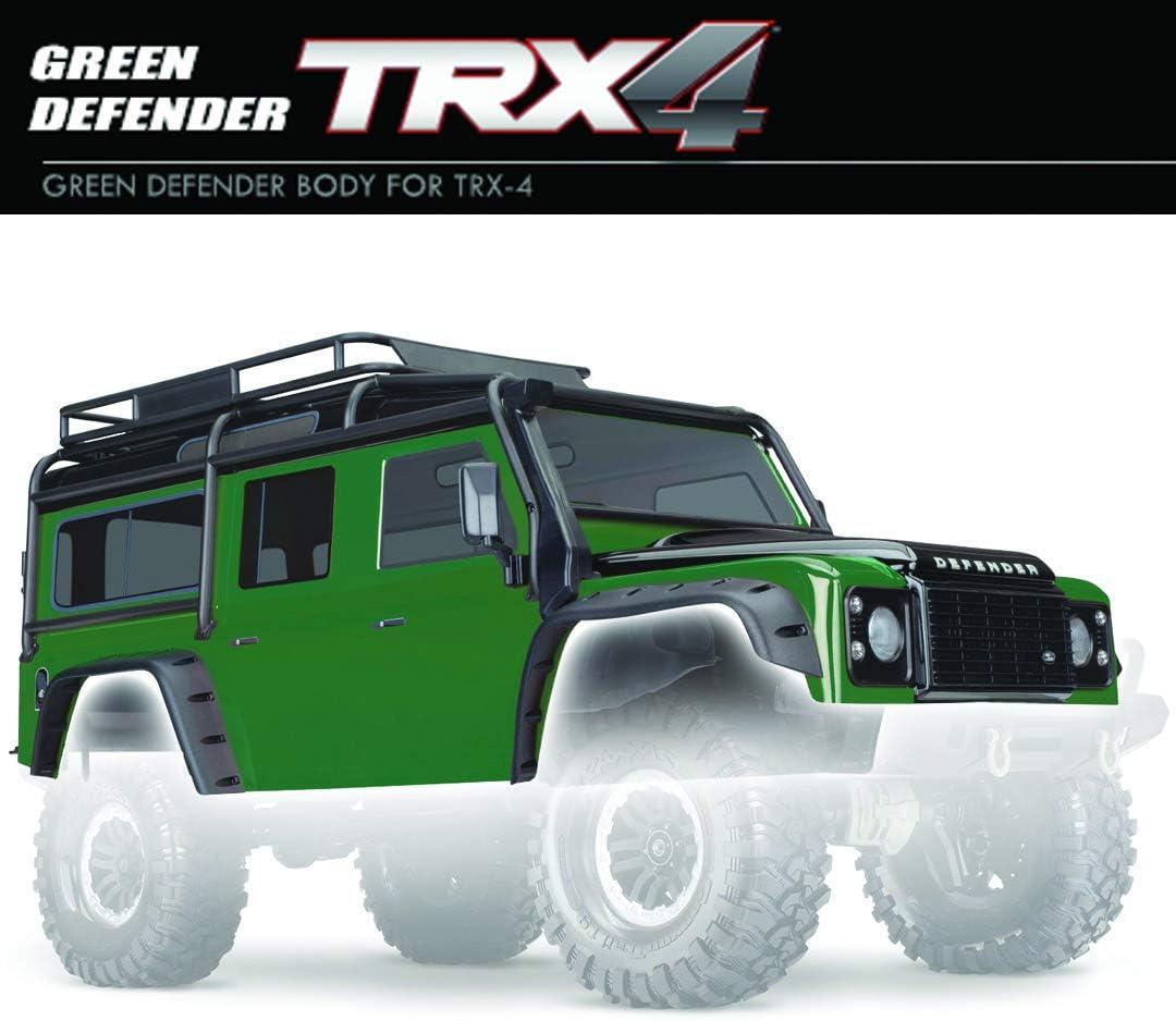 Traxxas cuadros, Land Rover Defender, Verde/Negro