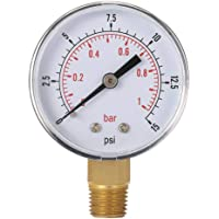 Laileya 0-15psi 0-1bar BSPT 50 mm Manómetro