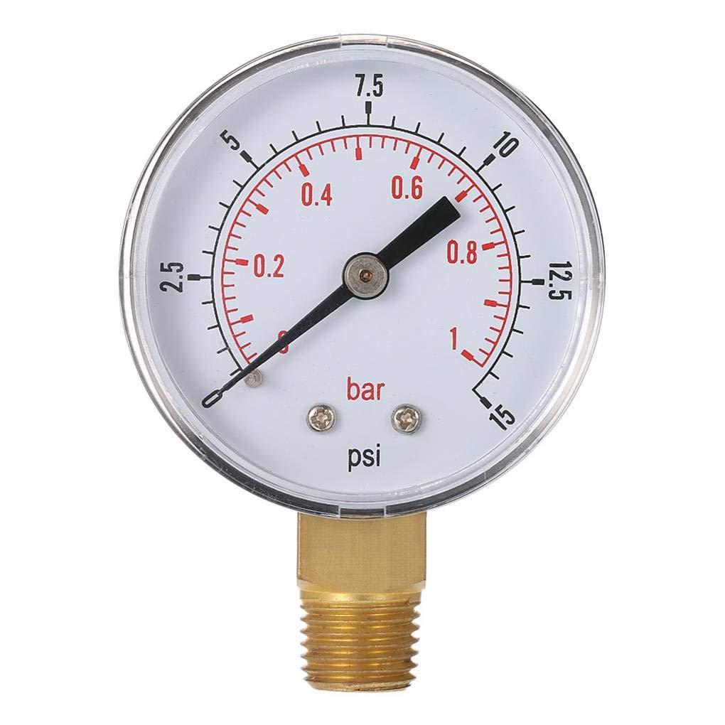 Laileya 0-15psi 0-1bar BSPT 50 mm fil huile montage manomè tre compteur pression d'eau compresseur d'air testeur manomé trique