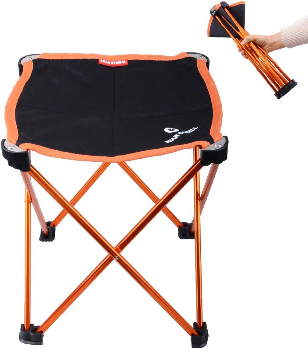 Azarxis Mini Taburete de Camping Silla Asiento Plegable Bajo Peso Ligero Compacto Ultraligero Portátil para Pesca Playa Mochilero Senderismo Picnic Acampar Viaje Jardín