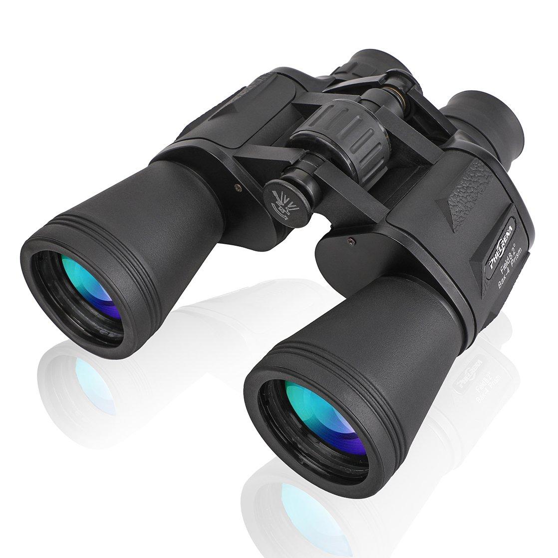 PHELRENA 20x50 Binoculars for Kids Adults,Compact HD Professional Binoculars Telescope Bird Watching Stargazing Hunting Concerts Football Sightseeing Phone Mount Strap Carrying Bag
