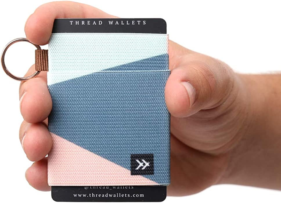 5d2e71529ee9bf Amazon.com: Thread Wallets - Slim Minimalist Wallet - Front Pocket Credit  Card Holder for Women: Office Products