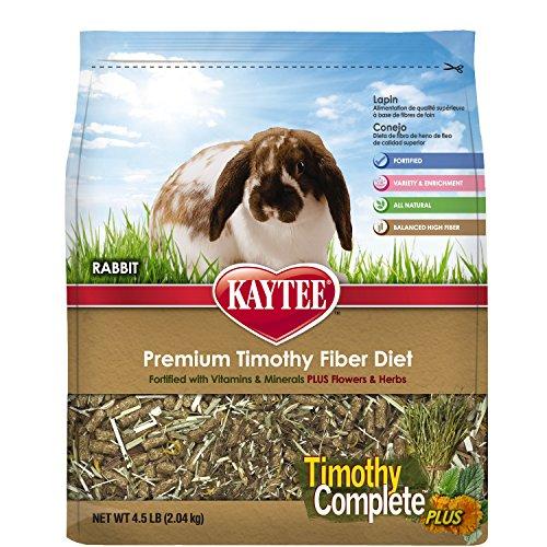 Kaytee Timothy Hay Complete Plus Flowers and Herbs Rabbit Food, 4.5-lb (Herbs Rabbit Food)