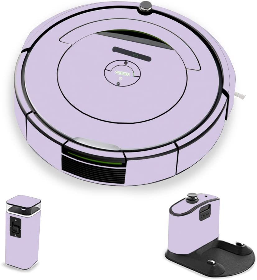 MightySkins Skin Compatible with iRobot Roomba 690 Robot Vacuum - Solid Lilac   Protective, Durable, and Unique Vinyl Decal wrap Cover   Easy to Apply, Remove, and Change Styles   Made in The USA