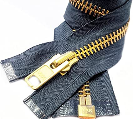 Extra Heavy Select Color and Length Separating Chaps By each Wholesale Extra Heavy Duty Zipper for Jackets /& Chaps # 10 BRASS