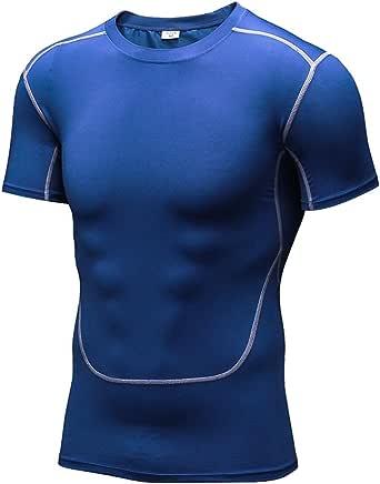 Camiseta Interior de Compresión Masculina con Manga Corta por ...