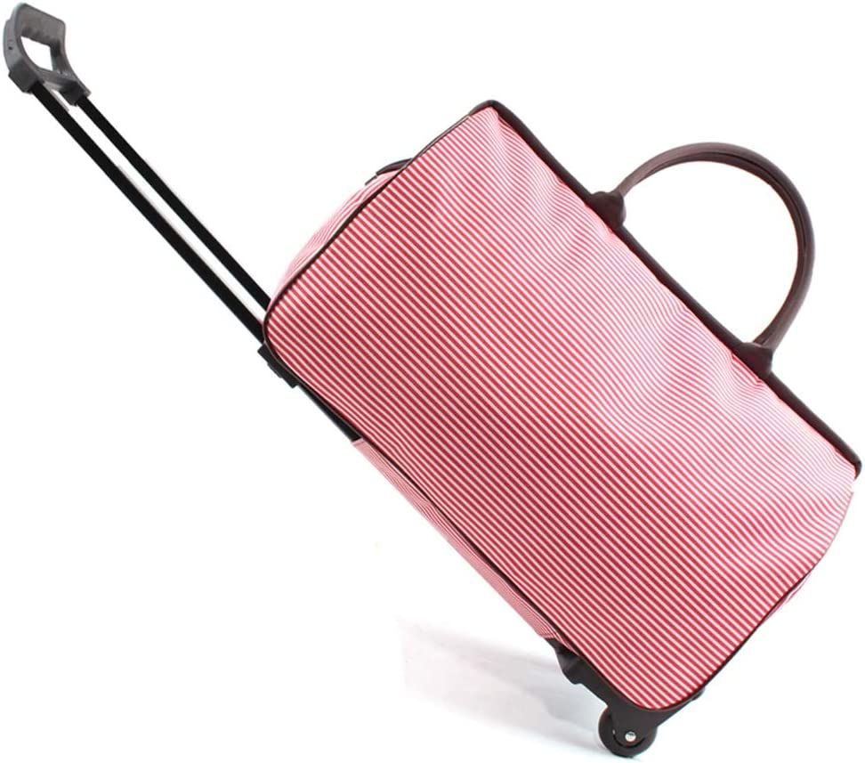 ZHANGQIANG Suitcase Travel Trolley Case Cabin Size Approved Roller Travel Bag Hand Luggage Wheeled Trolley Holdall Carry Bag with Wheels Lightweight Color : Gray and Small Lattice, Size : Large