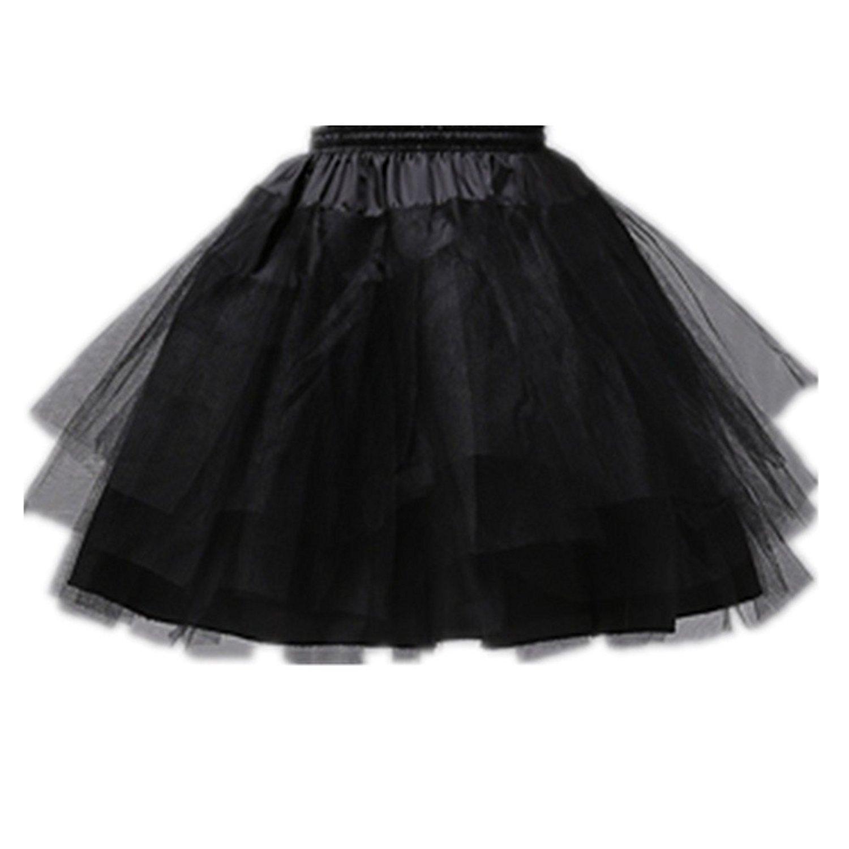 Edress Girls Knee Length 3 Layers Apparel Half Slips Wedding Flower Girl Petticoat