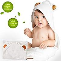 Cigreen Organic Bamboo Hooded Baby Towel