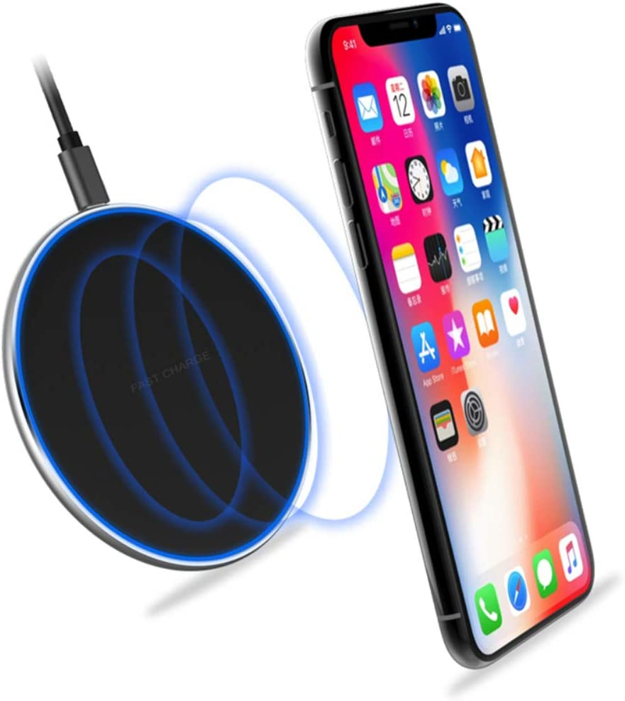 Wireless Charger Qi Fast Wireless Charging Pad Compatible iPhone 8 Plus//8//X//XS//XS Max Include AC Adapter White Compatible with Samsung Galaxy S9//S9 Plus//S8 Plus//Note 8//S7 More