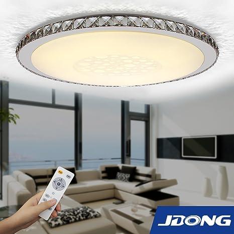 jdong moderna lámpara redonda 50 W LED para techo (Diamante ...