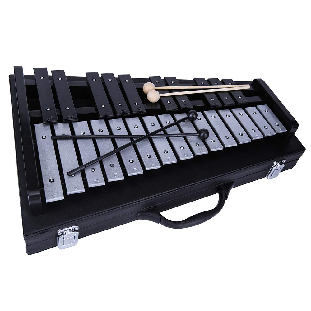 Yinama Glockenspiel Xylophone Professional Percussion Musical Instrument 25 Note