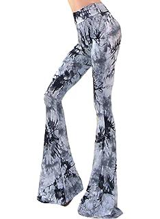 11754d1018b2 Damen Hosen Baggy Lang Elegant Breites Bein Hosen High Waist Casual Locker  Bedruckt Muster Frühjahr Herbst