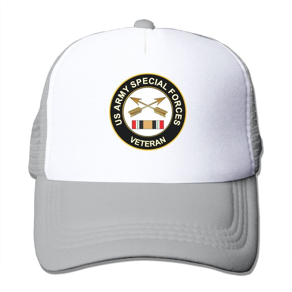 Amazon.com: Army Special Forces Iraq Veteran- Classic Trucker Hat ...