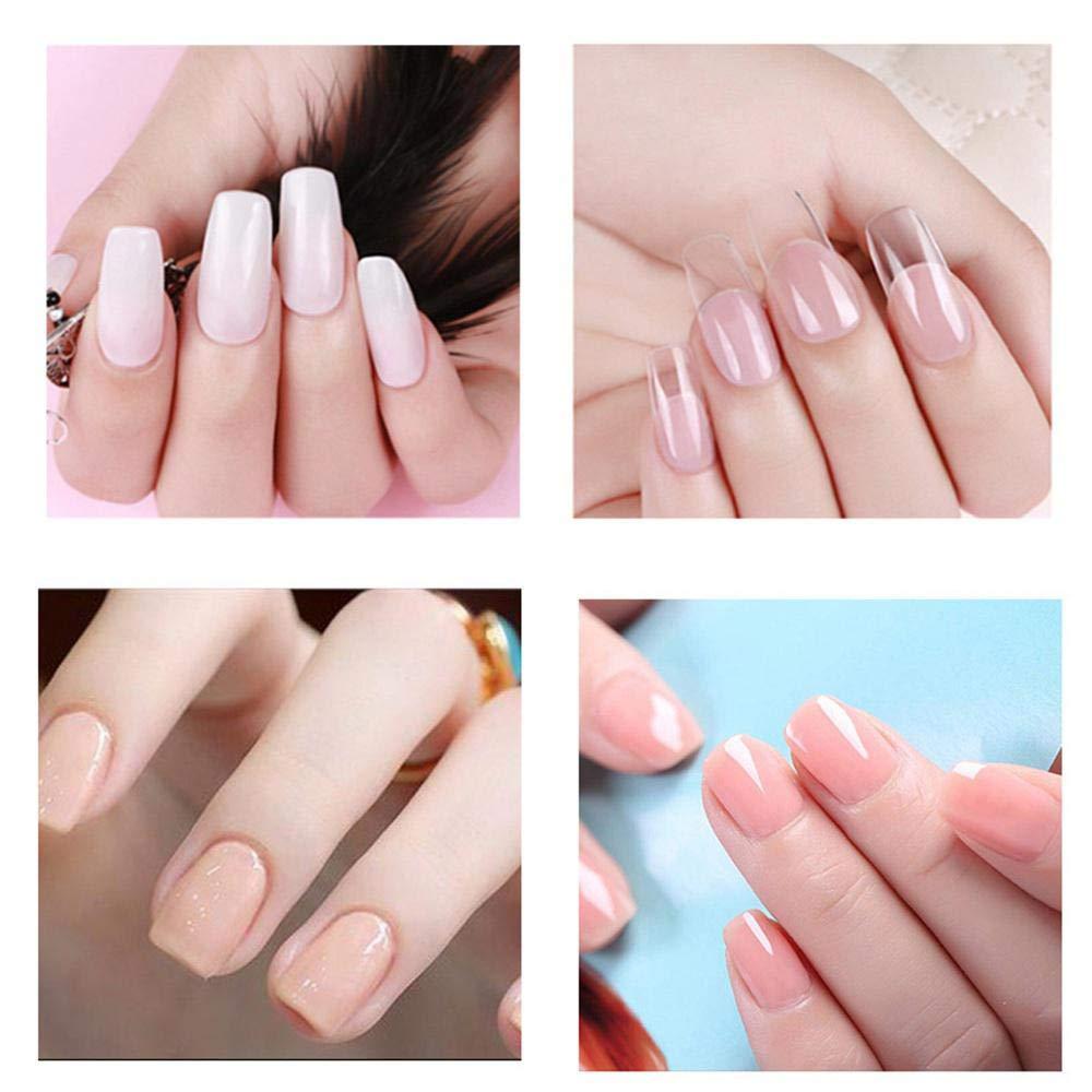 AOLVO Polygel uñas Kit, Uñas Postizas Fingers Poly Gel Set - 4 * Poly Gel, Pincel para uñas a Doble Cabeza, Soak Off (UV), Brocas para uñas Modelo, Clip, ...