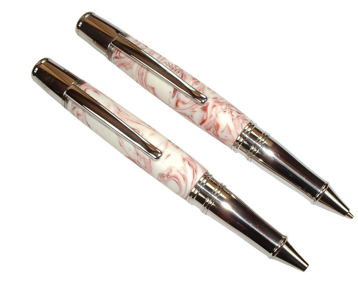 Valentine's Day Hand Turned Pen & Pencil Set