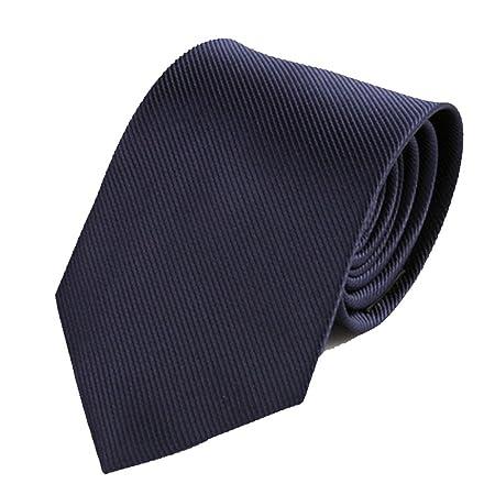 Y-WEIFENG Corbata de Negocios Corbata de poliéster para Hombres ...