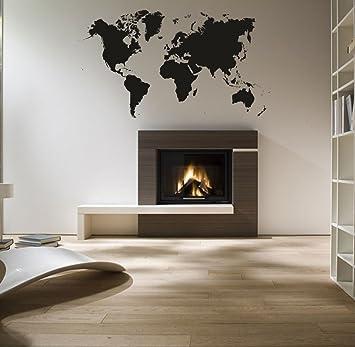 Murales Per Interni Casa.Wall Stickers Adesivo Murale Mappamondo 85cm X 55cm Adesivi