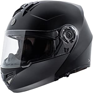 TORC T27 Full Face Modular Helmet (Flat Black, X-Large)
