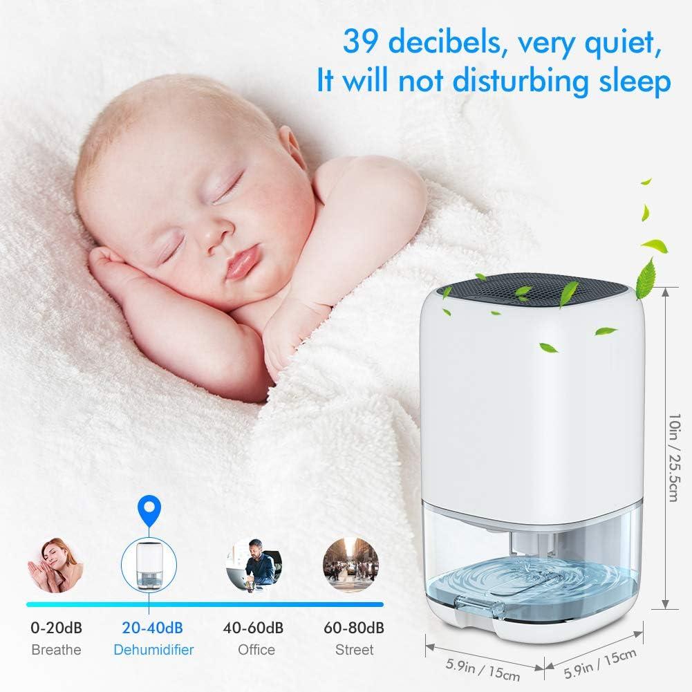 Badezimmer Lager Schlafzimmer Nobebird elektrischer Luftentfeuchter Leise Mini Luftentfeuchter gegen Feuchtigkeit und Schimmel Raumentfeuchter f/ür Schrank B/üro 1000ml