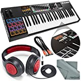 M-Audio Code 49 49-Key USB-MIDI Keyboard Controller with X/Y Touch Pad and Accessory Bundle w/ Headphones, Dual MIDI Cable, and Fibertique Cloth