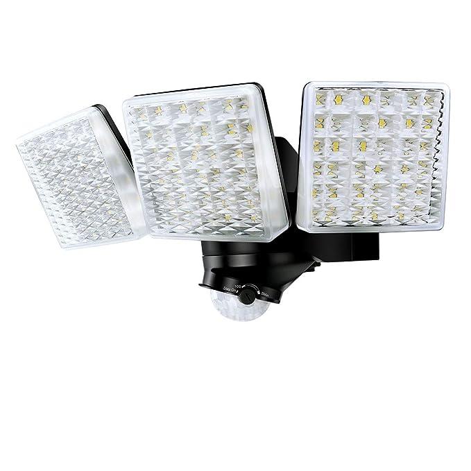 STASUN 30W LED Strahler mit einstellbarem Bewegungsmelder, 180° Erfassungswinkel, 3000LM, 5000K Tageslichtweiß, IP65 Wasserdi