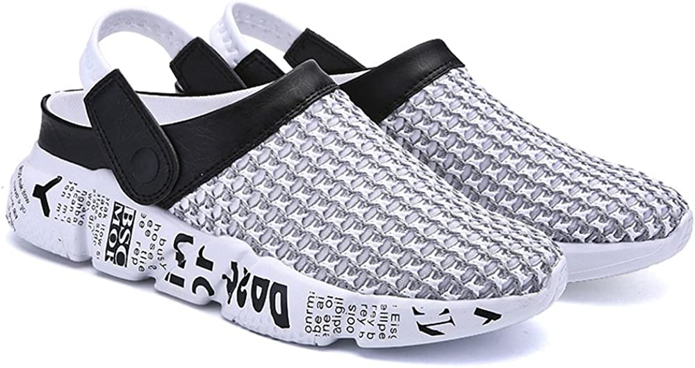 JIANBUYUN Men Hollow Breathable Sandals Summer Non-Slip Thick Bottom Sandals