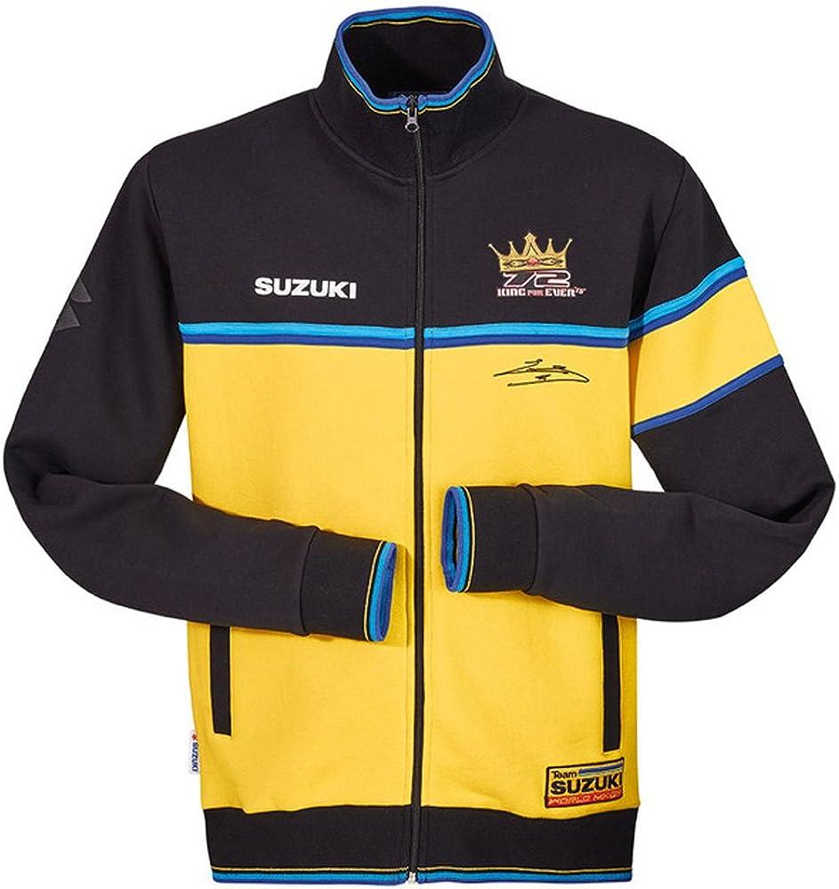 Suzuki BSB Team Hoodie Jacke Kapuzen Sweatshirt Zipper blau