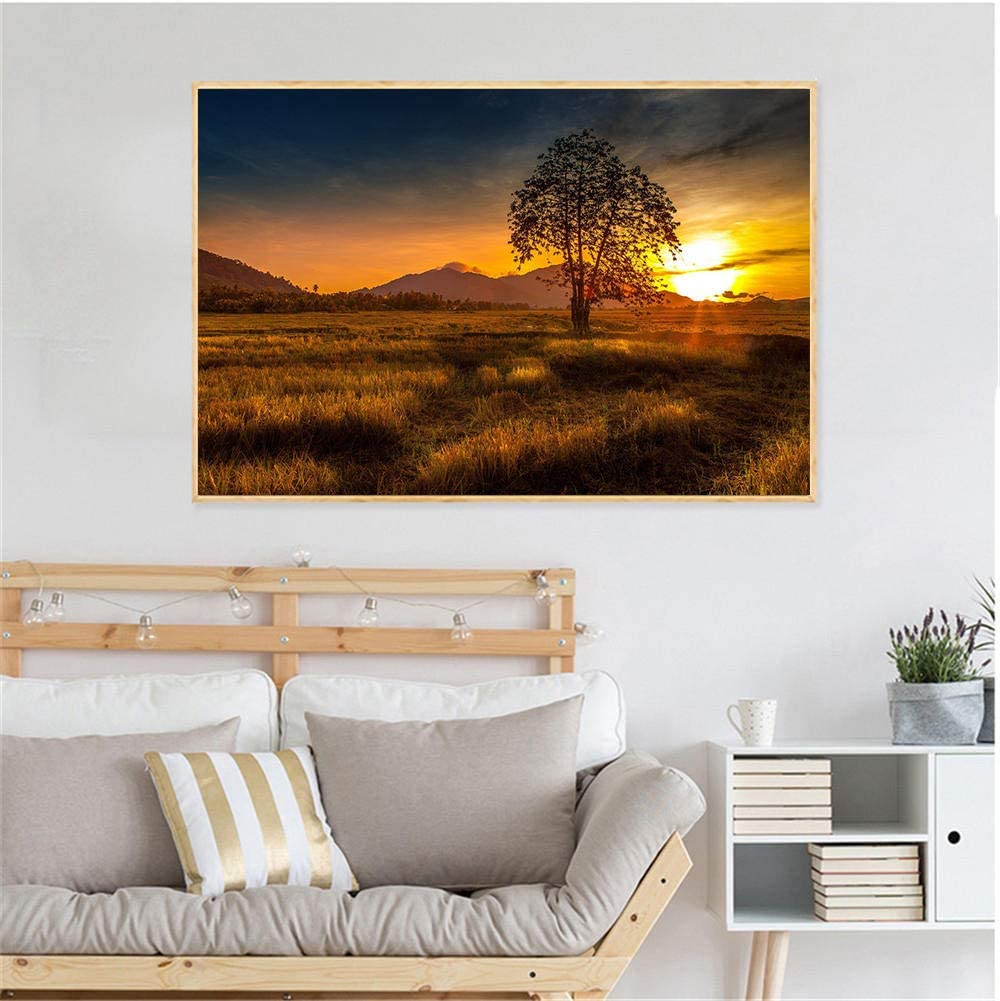 Amazon Com Xihba Sunset Painting Sunrise Wall Pictures For Living Room Wall Art Wave Nature Decoration Salon 50x80cm No Frame Posters Prints