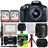 Canon EOS Rebel T6 Digital SLR Camera + EF-S 18-55mm f/3.5-5.6 IS II Lens + 32GB Memory Card + Dummies Book + Flexible Tripod + Photo4Less DC59 Gadget Bag + Mom Photo Frame – Deluxe Mother Day Bundle