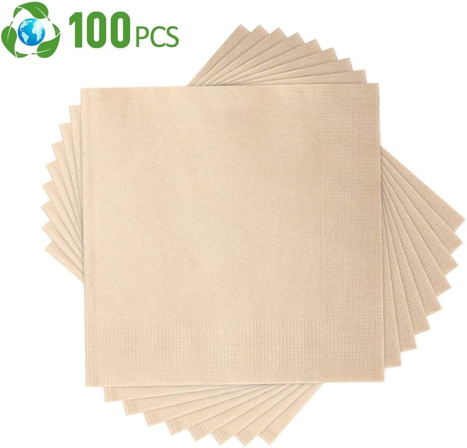 Compostable Napkins,Biodegradable Napkin,Eco Napkins 15.5 x15.5 ...