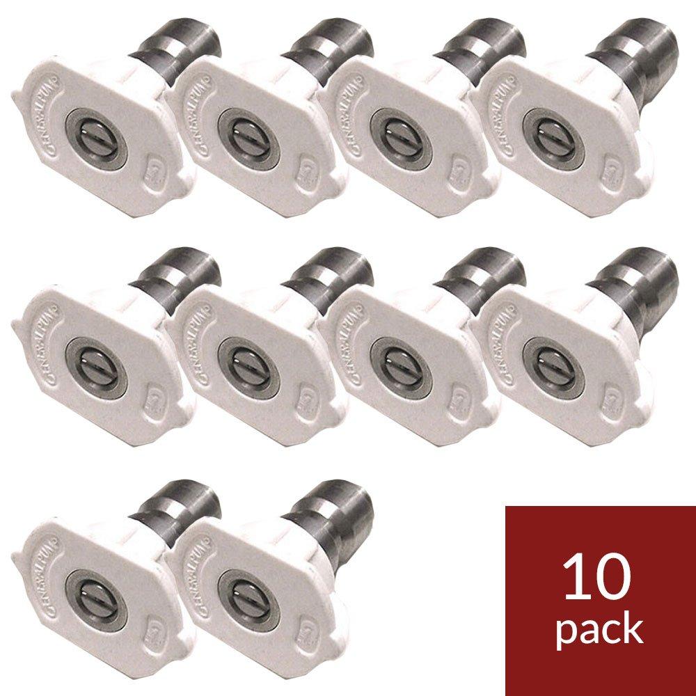 General Pump 9.803-813.0 White QC Nozzle 10pk 40045 (40 Degrees, Size #045)