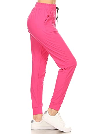 0d65089c7cd83 Leggings Depot Women's Printed Solid Activewear Jogger Track Cuff  Sweatpants Inner Pockets