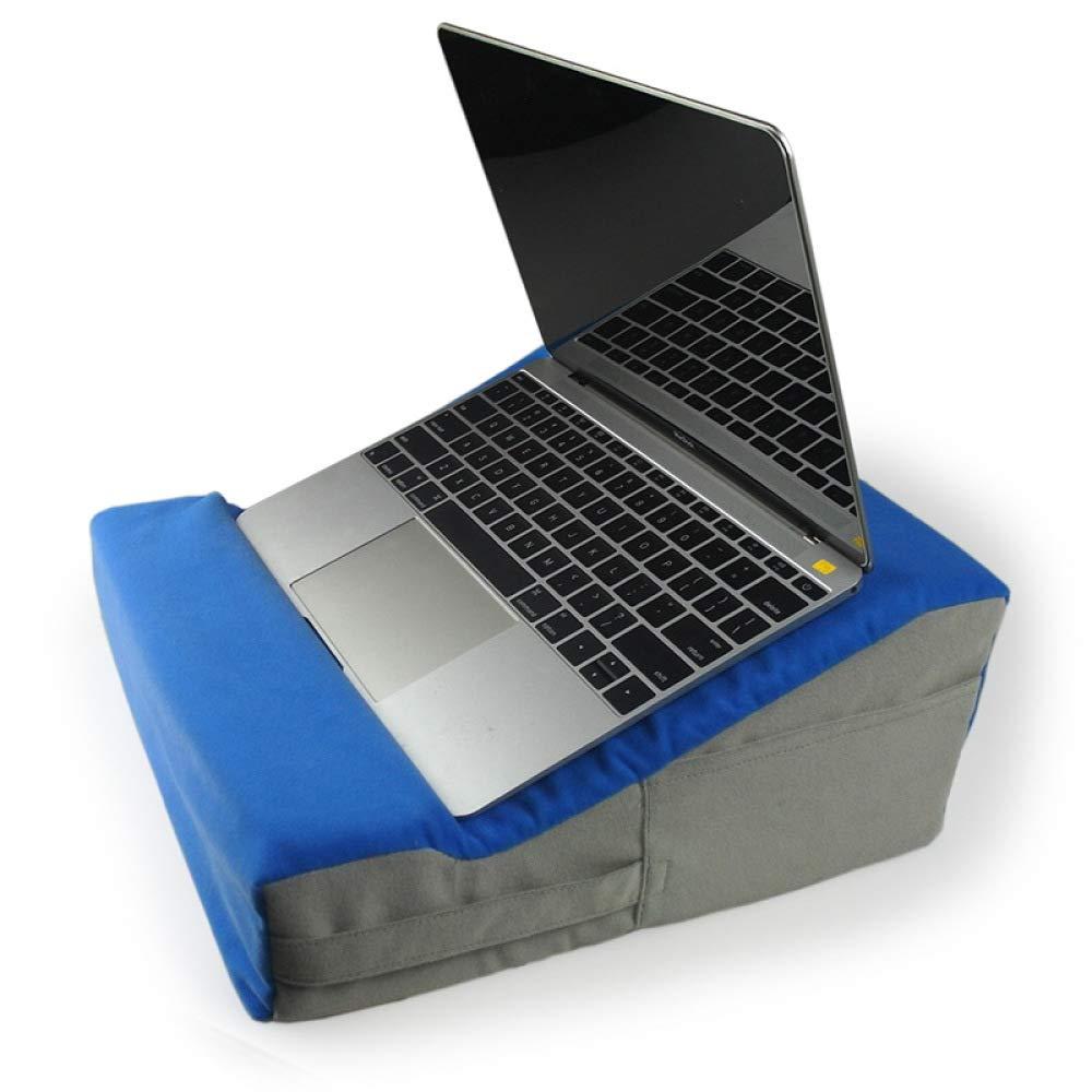 Jiaa ベベル ポータブル ノートブック フロッキング 小型 タブレットクッション MacBook 枕 スカイブルー 12.6インチ×12.6インチ×5.5インチ B07KGF6LX7