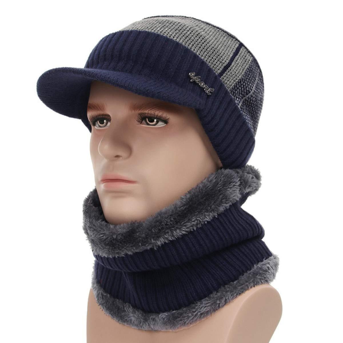 Amazon.com: WEEKEND SHOP Winter Hats for Men Skullies Beanie Hat Winter Cap Men Women Wool Scarf Caps Set Balaclava Mask Gorras Bonnet Knitted Hat Color 3: ...