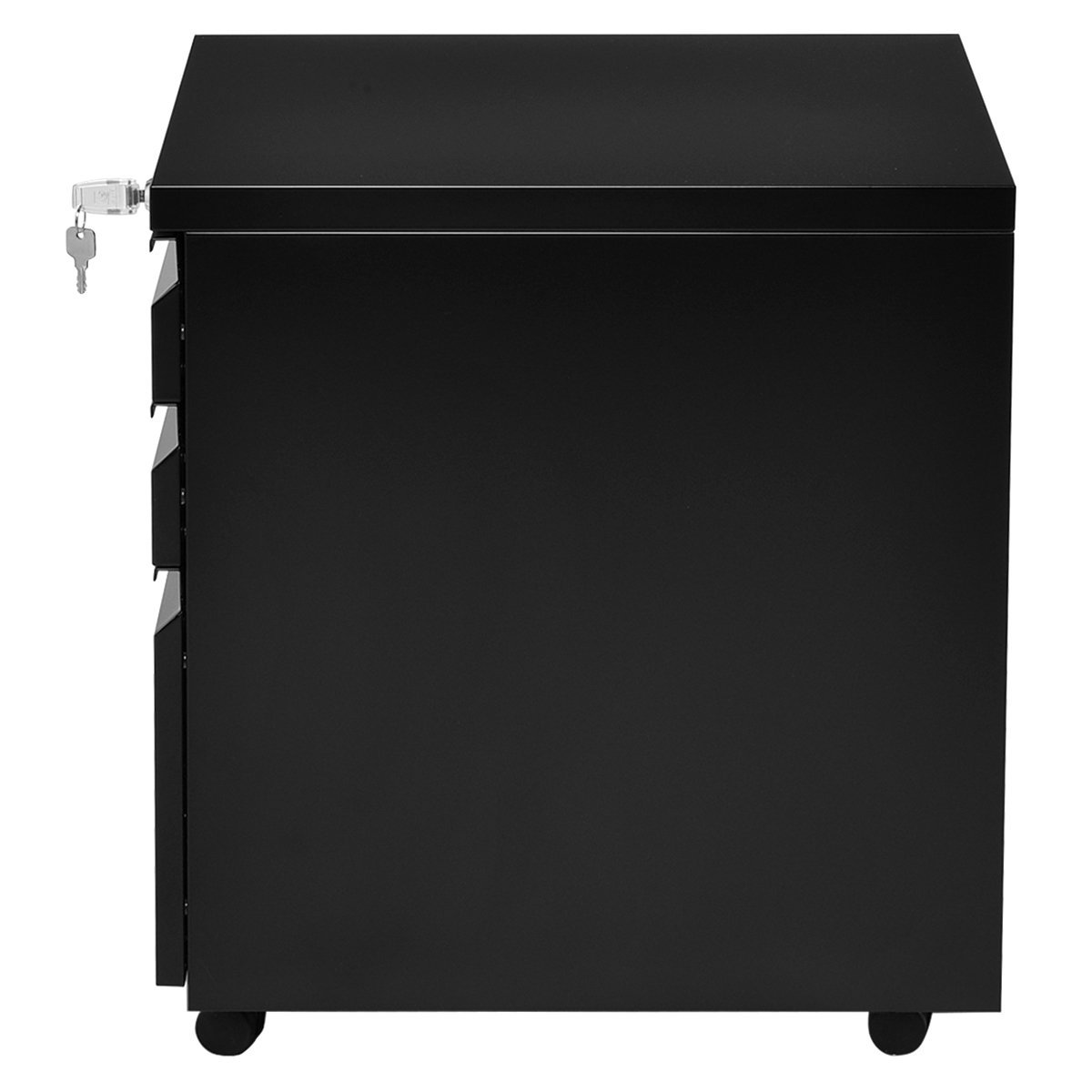 Giantex Rolling Mobile File W/3 Lockable Drawers and Pedestal for Office Study Room Home Steel Storage Cabinet by Giantex (Image #7)