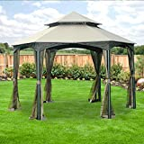 Southbay Hexagon Gazebo Replacement Canopy Top Cover and Netting – RipLock 350 Review