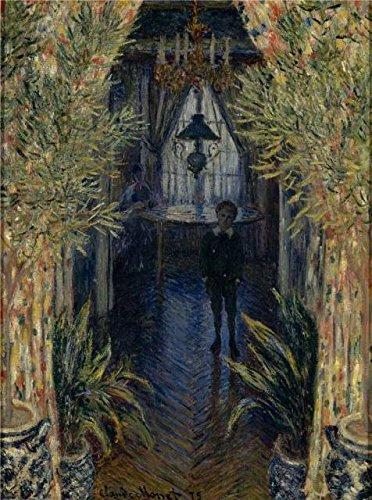 The Perfect Effectキャンバスの油絵「A Corner of the apartment  1875byクロード・モネ」、サイズ: 10x 13インチ/ 25x 34cm、このレプリカアートDecorativePrintsキャンバスのはフィットの地下室アートワークとホームギャラリーアートとギフトの商品画像
