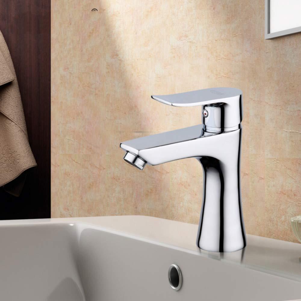 Ayhuir New 1 Set Basin Faucets Single Handle Basin Mixer Tap Bath Waterfall Bathroom Faucet Chrome Sink Water Crane Silver