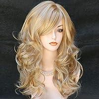 ColorfulPanda peruka blond damska, długość 70 cm, kręcona peruka dla kobiet, anime cosplay, na bal kostiumowy, Halloween…