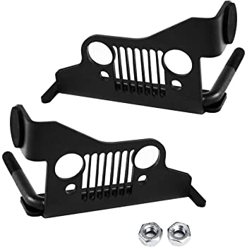 Xprite Jeep Front Black Steel Foot Pegs With U S Flag For 2007 2018