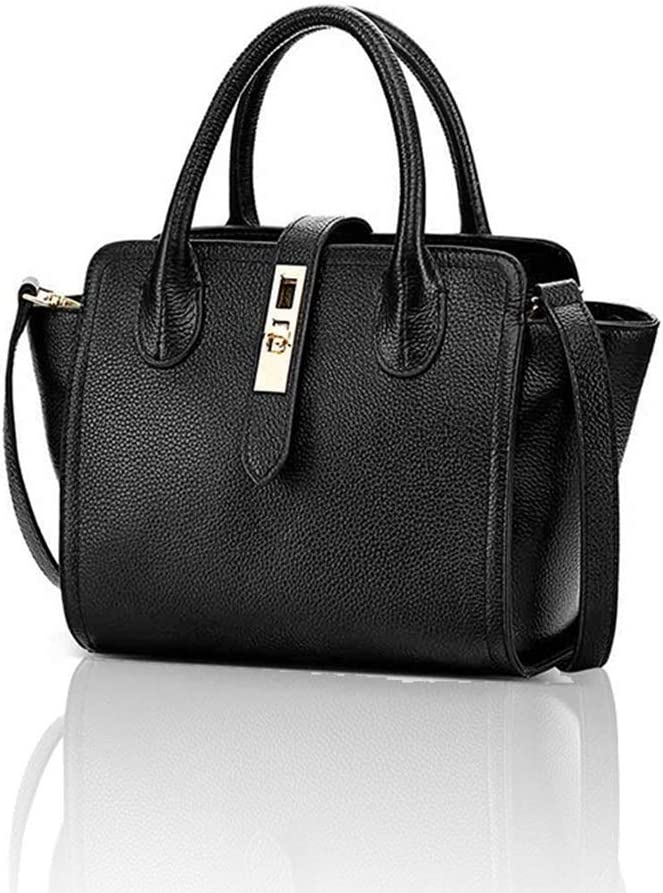 RABILTY Womens Commuter Wings Leather Tote Bag Shoulder Hand Strap Bag Color : Black