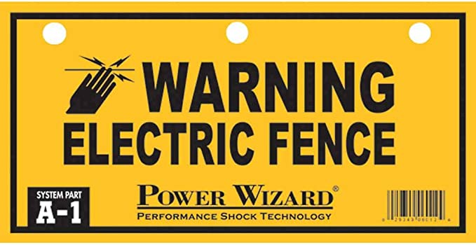 Warning Sign 1614-03 Dare Products Electric Fence 3 Pack