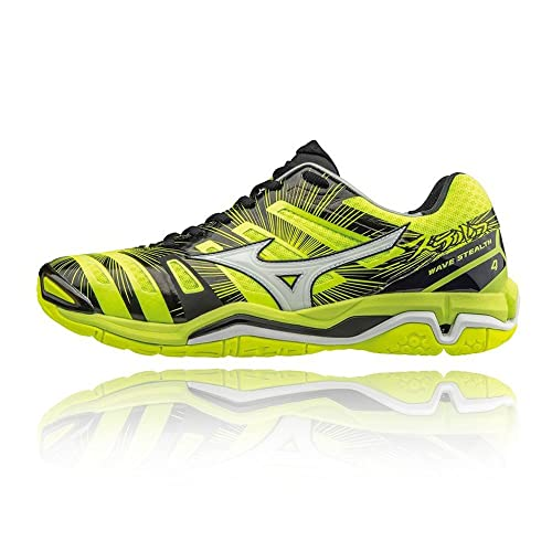 Buy Official Shoes Mizuno Wave Stealth 4 Indoor Court Shoes Men Yellow