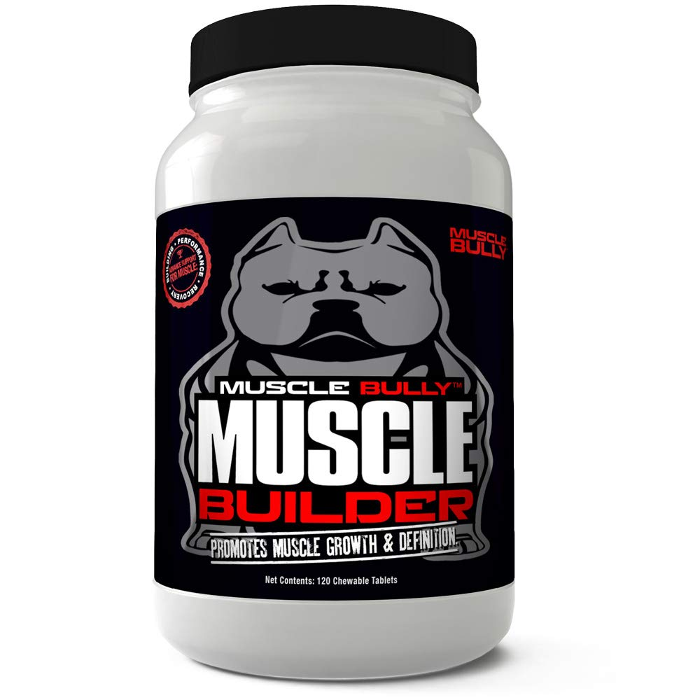 Muscle Builder for Bullies, Pitbulls,Bull Breeds - Contains Proven Muscle Building Ingredients - Muscle Growth & Definition On Your Dog. Made in The USA. 100% Safe, No Side Effects. (120 Tablets) by Muscle Bully