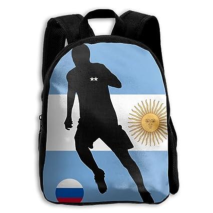 Bandera de Argentina y fútbol Unisex Full 3D Impreso Escuela Hombro Bolsa Mochilas  Niños para Niños 68942a5c93936