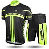 INBIKE Men's and Women's Summer Breathable Cycling Jersey and 3D Silicone Padded Shorts Set Outfit