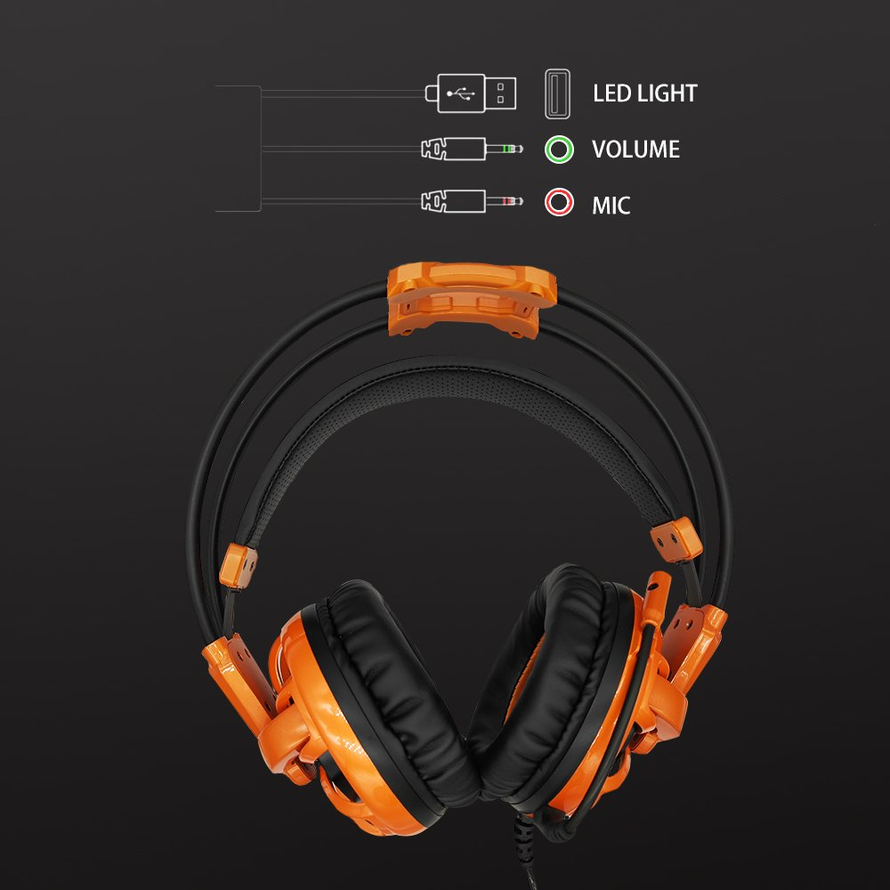 iNcool Stereo Gaming Headset, Noise Cancelling Mic Over Ears Gaming Headphones with Microphone by iNcool (Image #3)